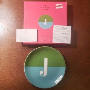 Lenox Kate Spade Monogram dish letter J